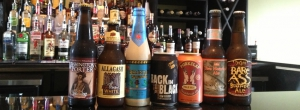assortment of beers to choice from